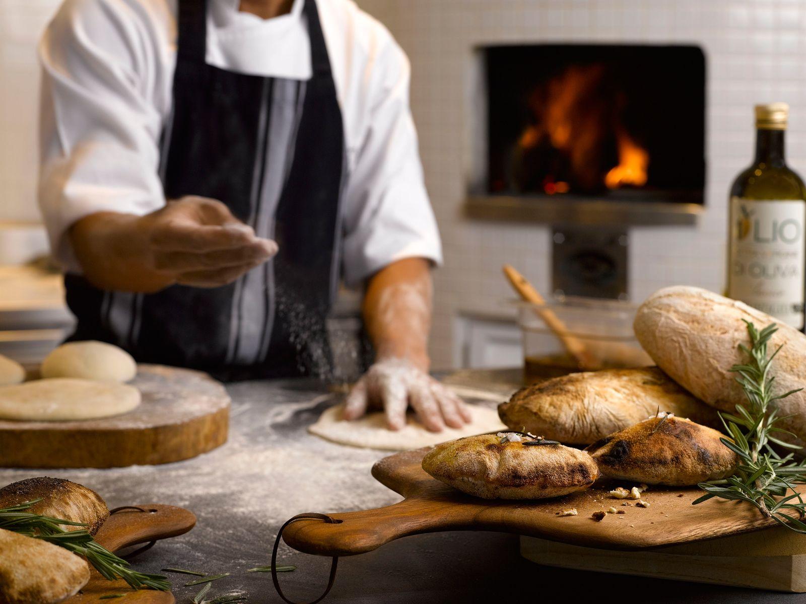 Freshly baked breads.