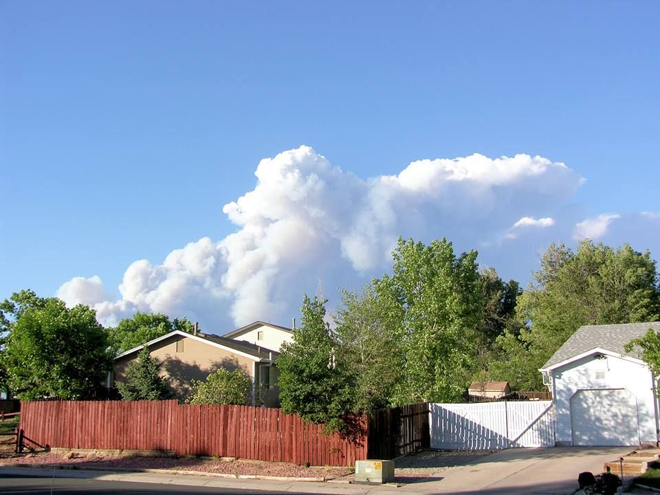 The view from Chelton and Jetwing of the Black Forest Fire