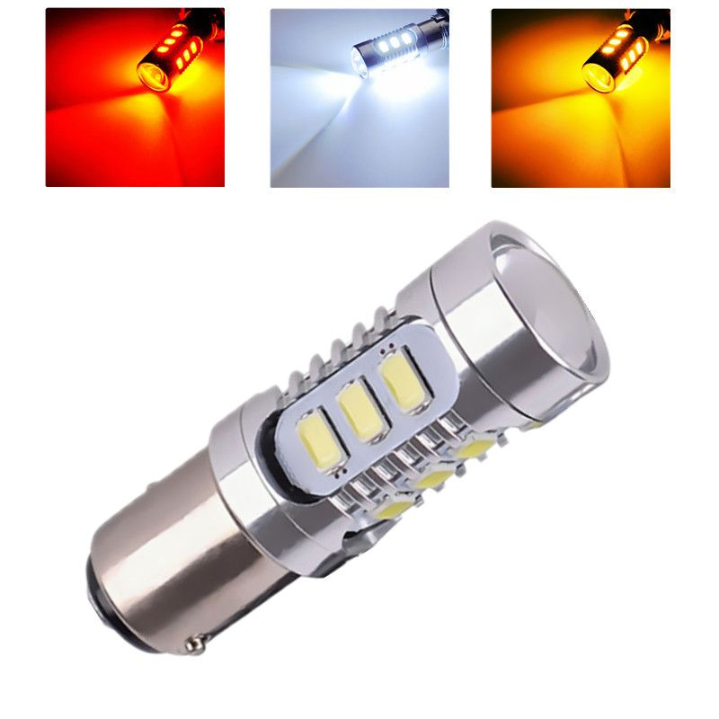 1157 12 5630 Smd Bay15d Led High Power Lamp 21 5 W Led Auto Lampen Remlichten Bron Parking 12 V Wit Rood Geel Led Lamp Jaune