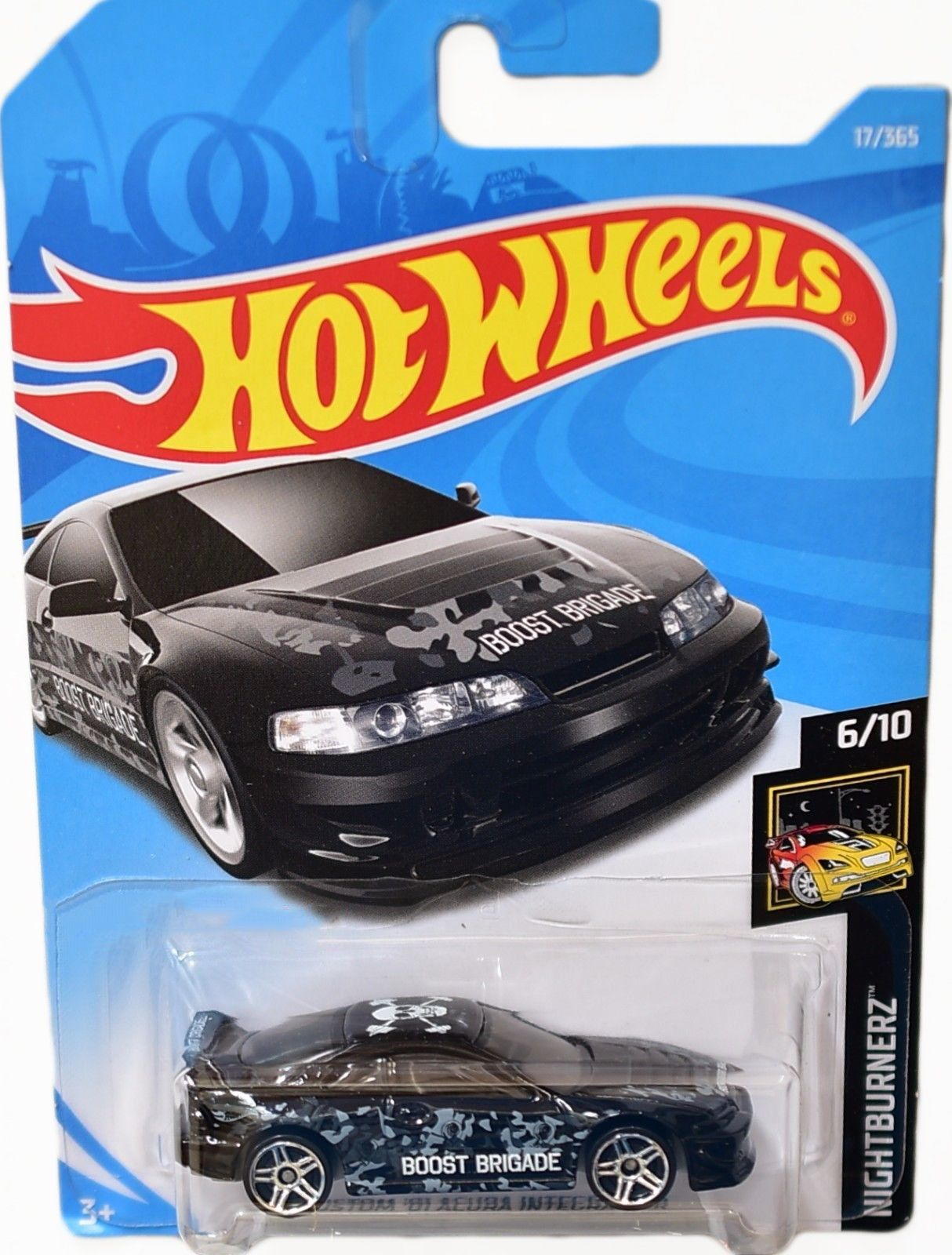 Hot Wheels Nightburnerz Custom 2001 Acura Integra GSR Black