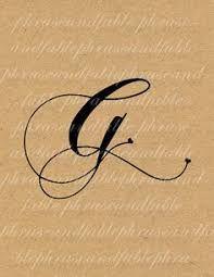 Risultati immagini per lettera G tatuaggio