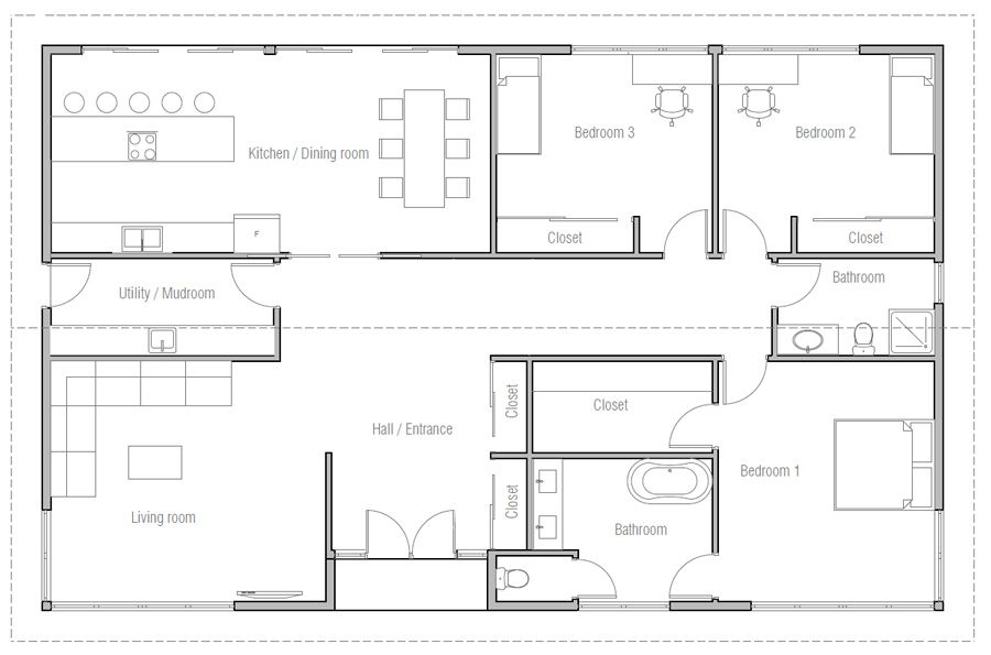 House Design House Plan Ch476 10 Bedroom House Plans 2 Bedroom House Plans My House Plans