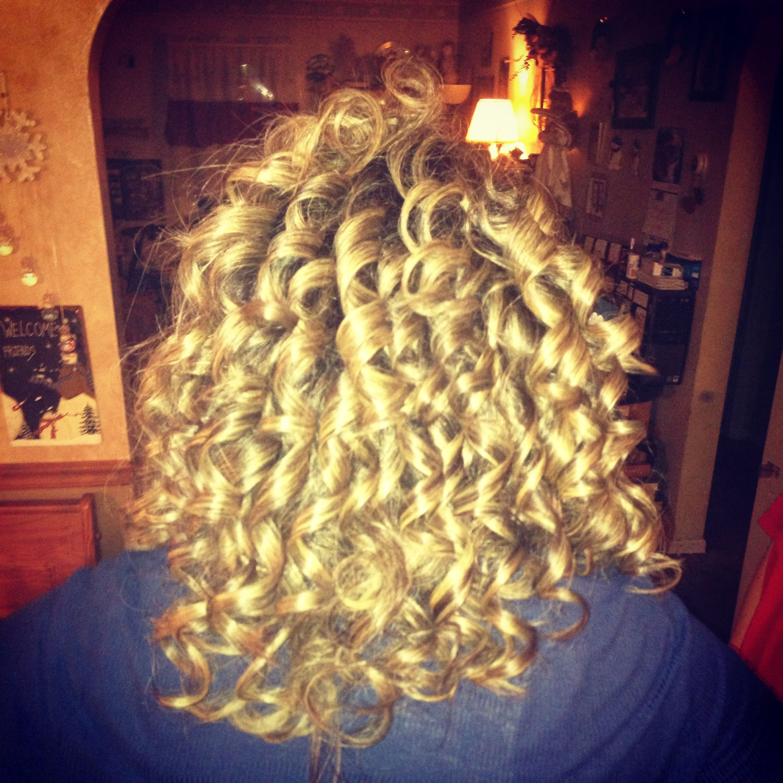 Curls i did on a friend beautiful beauty uc pinterest