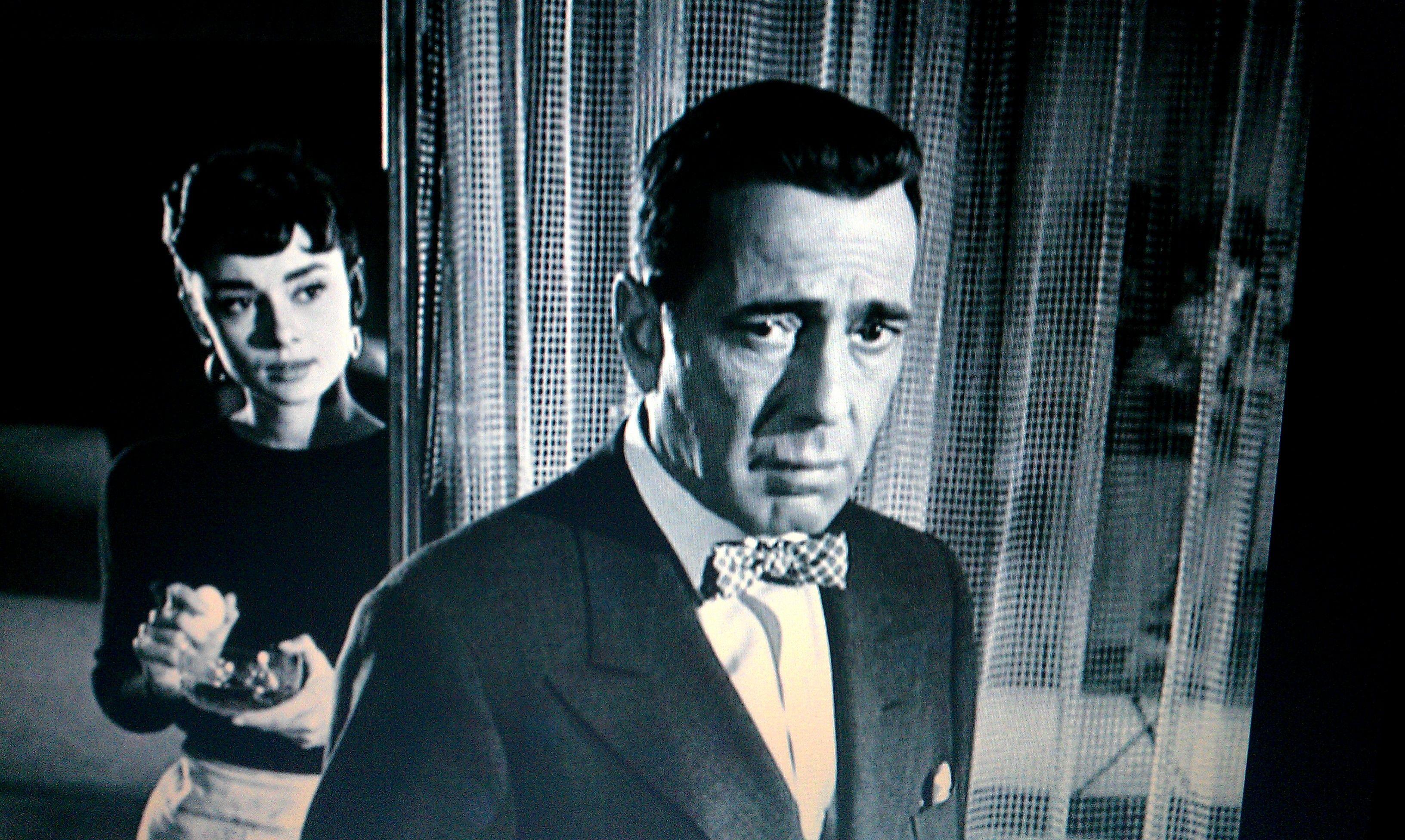 Audrey Hepburn y Humphrey Bogart en Sabrina Humphrey bogart