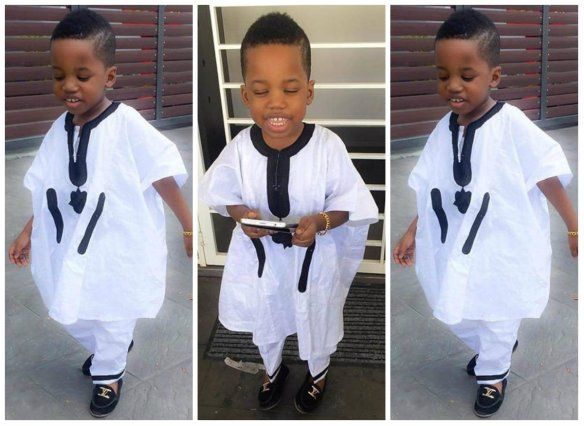 19 Male Kids Awesomely Rocking The Nigerian Agbada Outfit