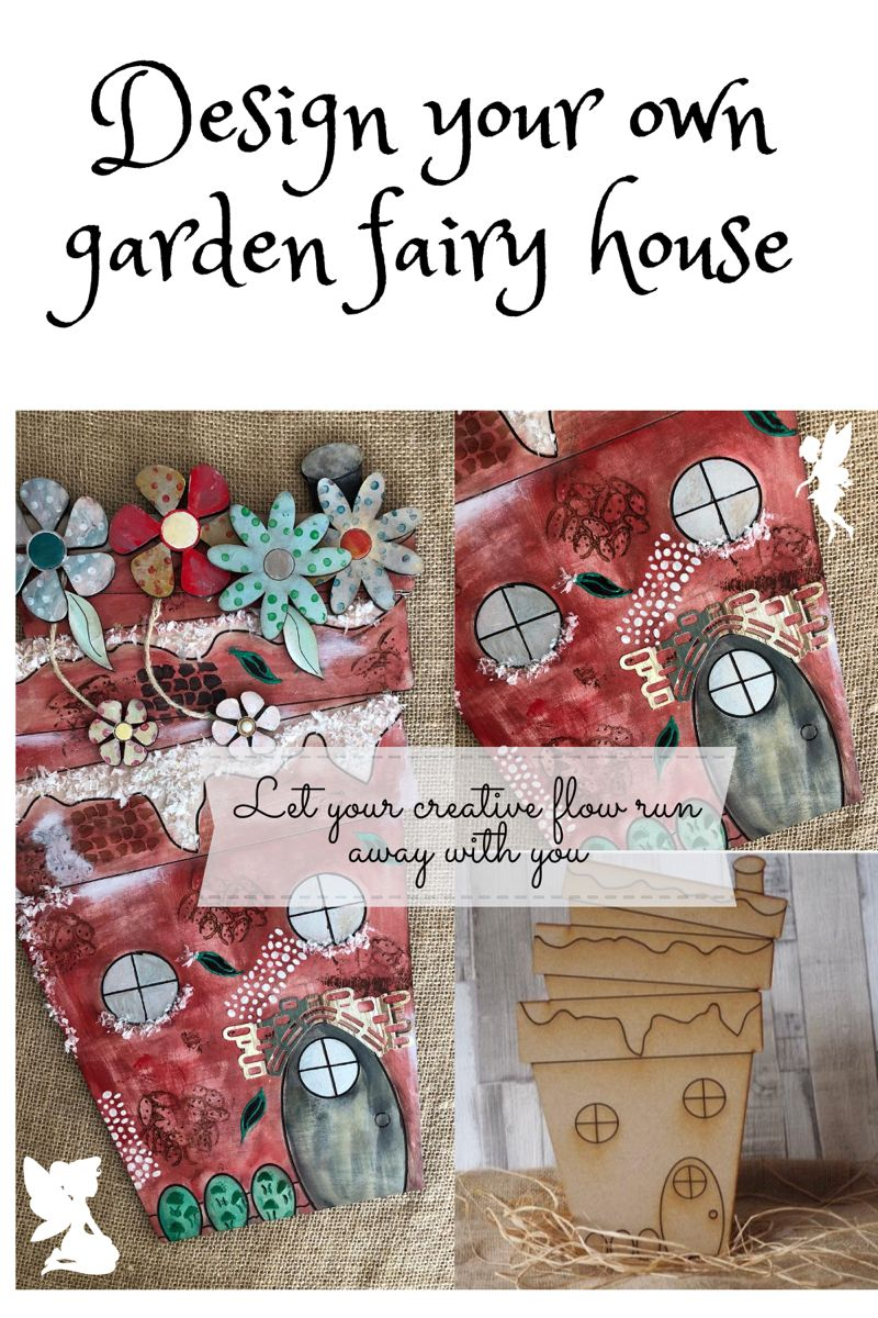 Design your own fairy house for the garden or a chidrens room. #fairyhouse #fairygardenideas #crafting #craftingwithkids #craftingproject #christmasgiftideas #tryanewcraft