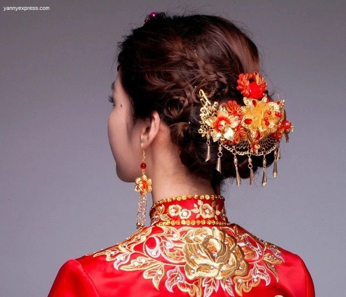 Asian Wedding Hairstyle: Chinese Bridal Hair Comb Kwa Qun
