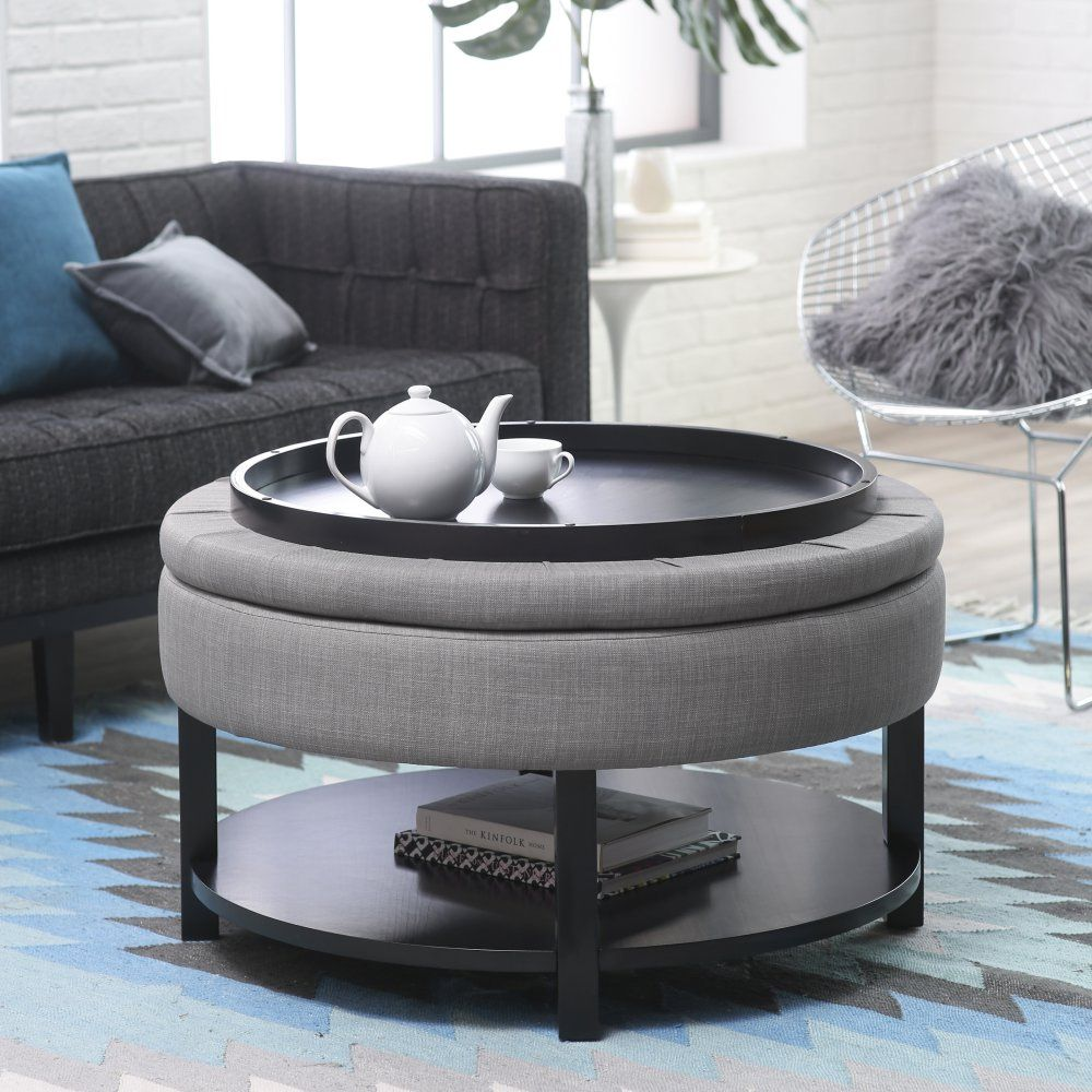 Belham Living Dalton Coffee Table Storage Ottoman With Tray Shelf In A Small Coffee Table Small Space Storage Ottoman Coffee Table Diy Ottoman Coffee Table [ 1000 x 1000 Pixel ]
