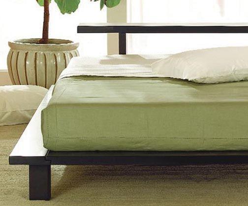 Zen Modern Hardwood Platform Bed Front View Bed Japanese Platform Bed Platform Bed