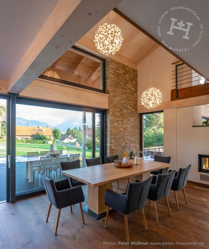Photo of Outside or inside? The indoor dining area is airy with the large open …