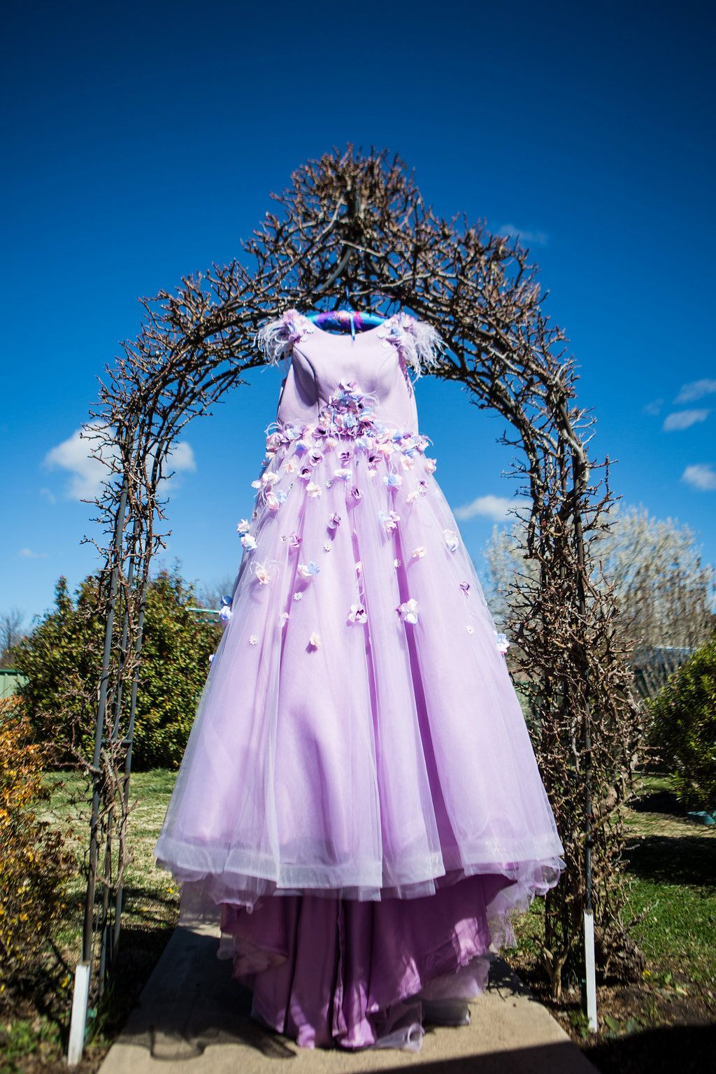 Pastel Goth Unicorn Wedding For 1500 Purple Floral Dress Colored: Pastel Goth Wedding Dresses At Reisefeber.org
