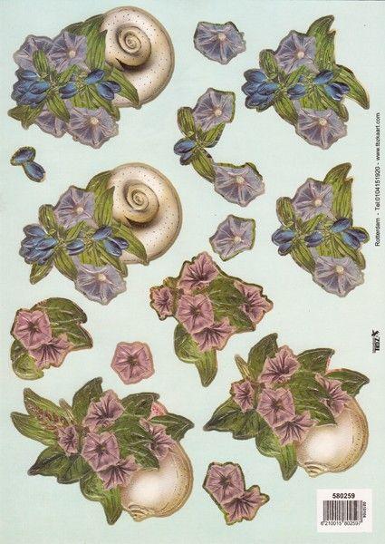 3-D Bogen Blumen, vorgestanzt