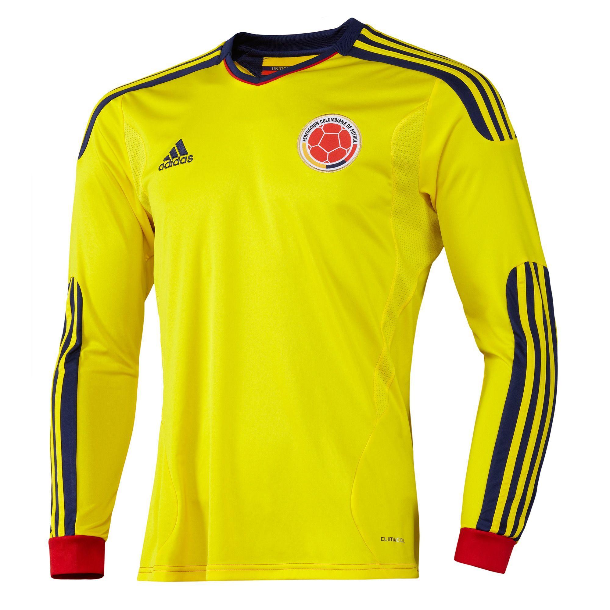 adidas - Camiseta Local de Manga Larga de la Selección Colombia FCF ... de14515199d19