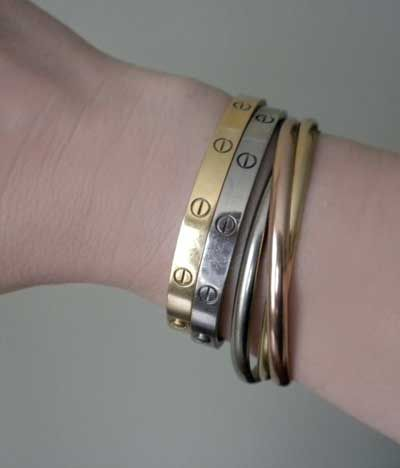 e295f813021 cartier trinity bracelet and love bangles - perfect for valentine s day -  hint...hint.