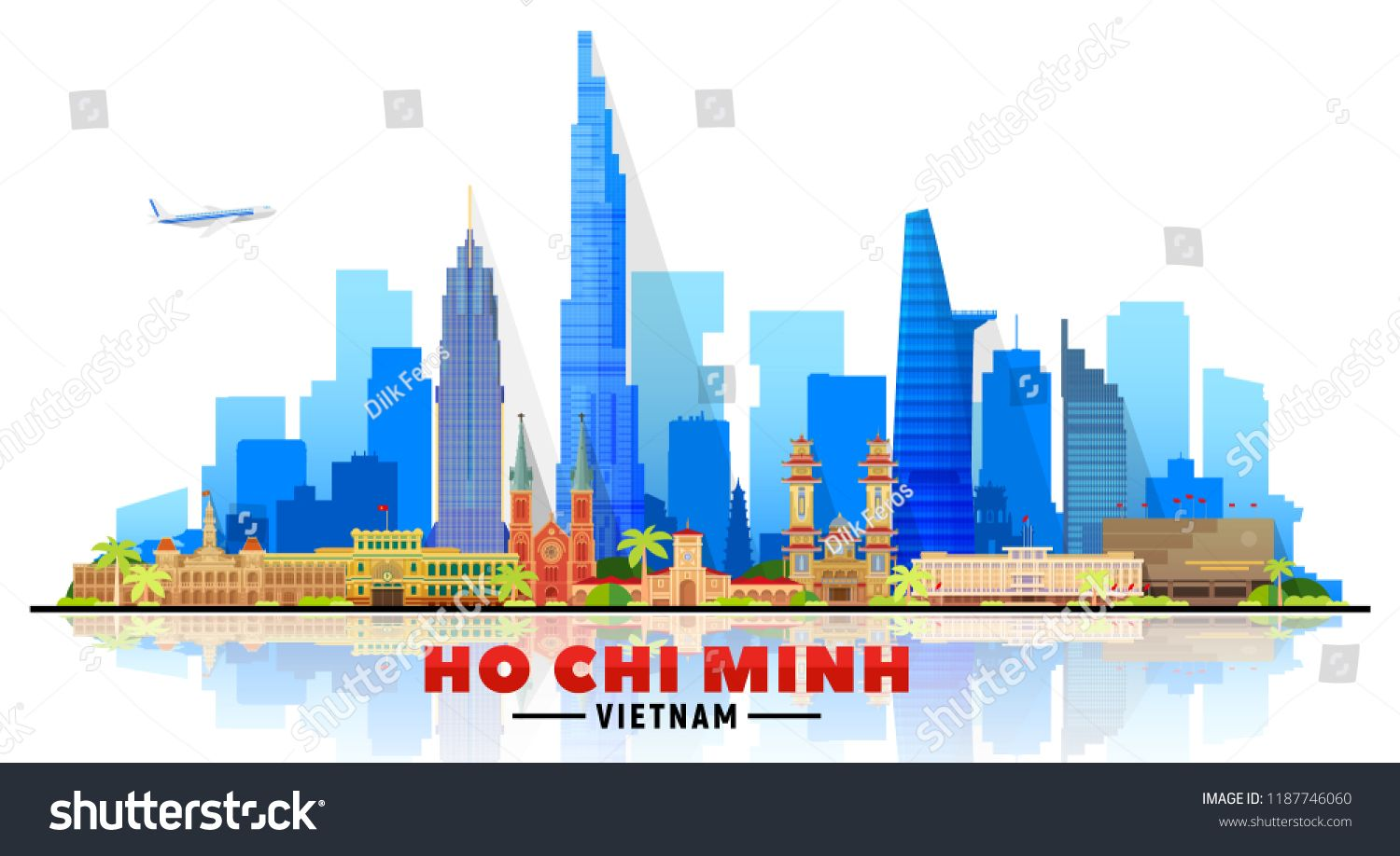 Ho Chi Minh City Vietnam Skyline With Panorama In White Background Vector Illustration Business Travel And Touri Travel And Tourism Tourism Business Travel