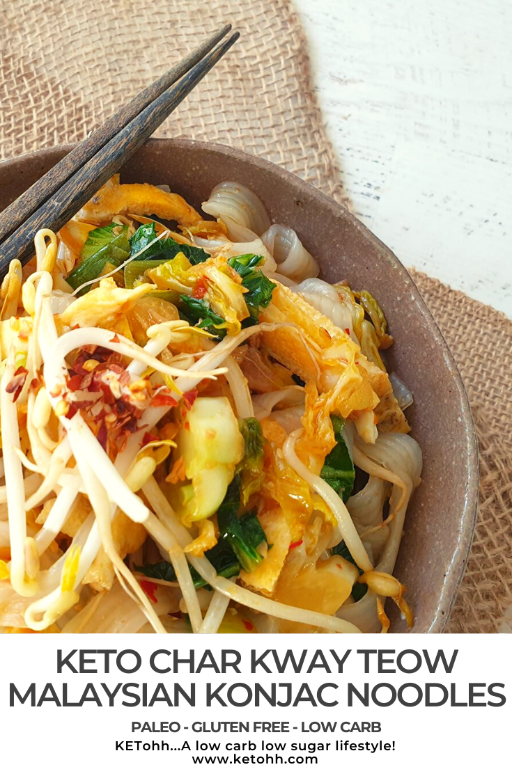 Char Kway Teow Low Carb Malaysian Konjac Noodles Recipe