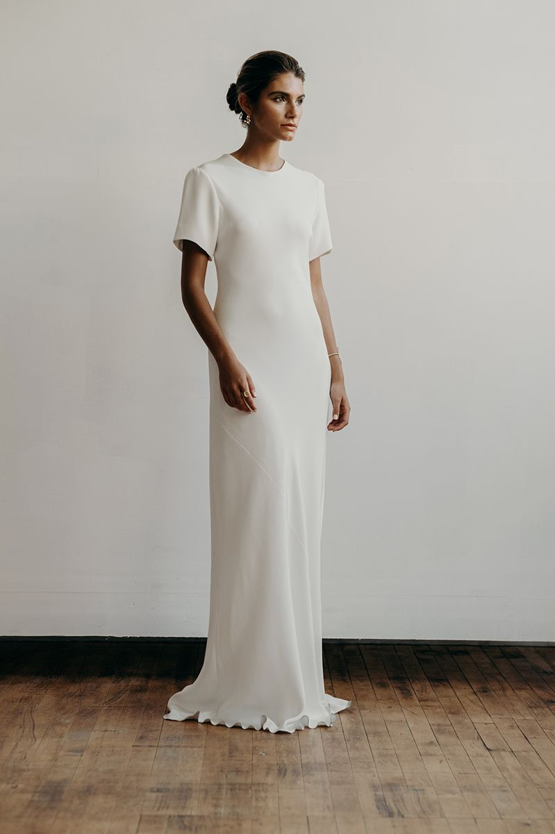 Hadley dress in heavy crepe | Lena Medoyeff Studio | Bridal ...