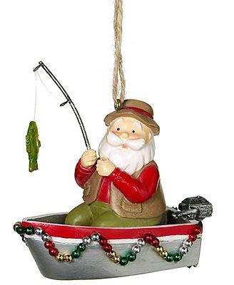 Midwest Christmas Ornament, Santa Fishing - Midwest Christmas Ornament, Santa Fishing Christmas Pinterest