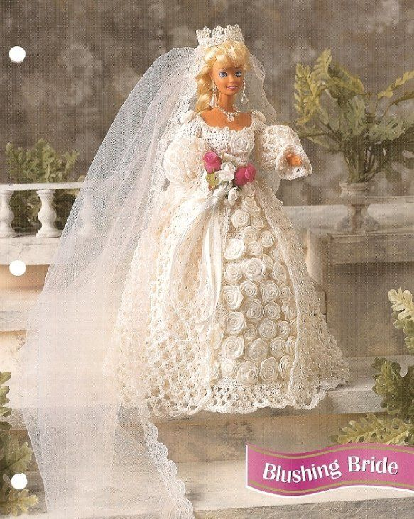 X226 Crochet PATTERN ONLY Blushing Bride Wedding Gown Barbie