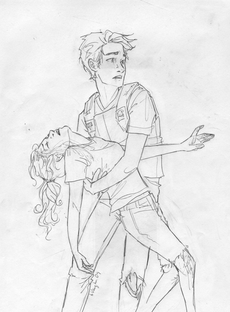 Hurt Annabeth Sketches Couple Drawings Percy Jackson