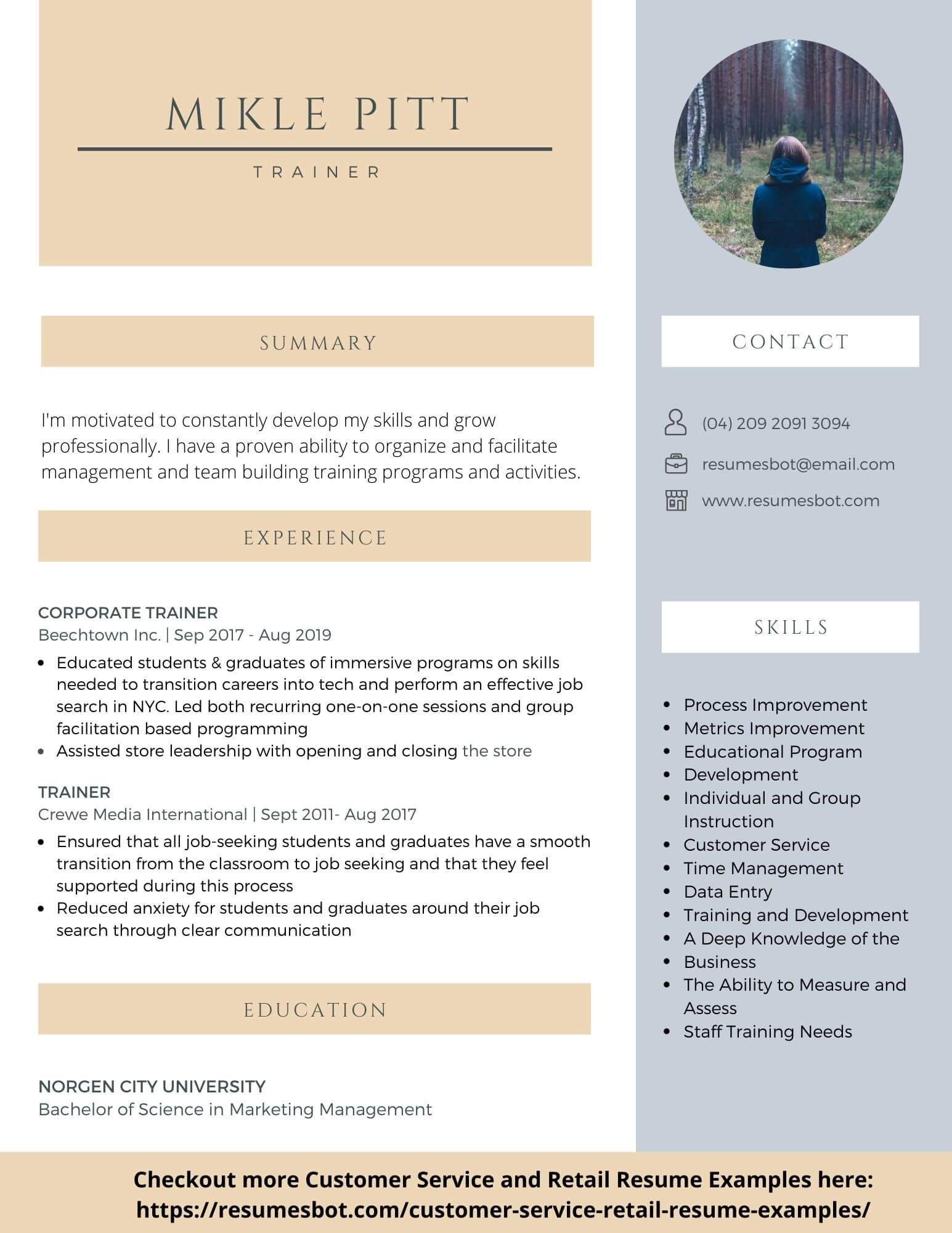 Trainer Resume Samples Salary, Certification, Keywords