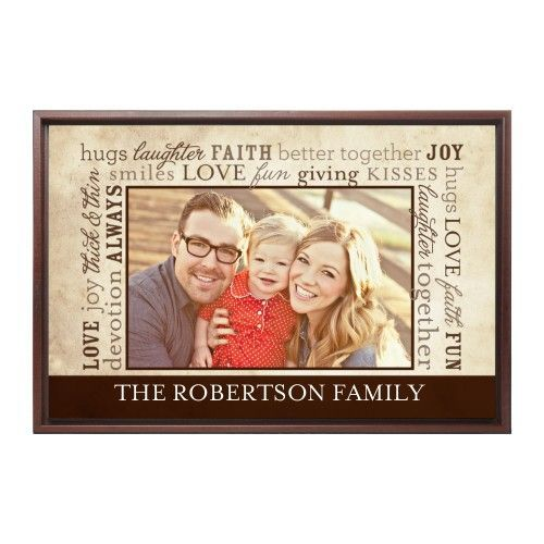 Meaning Of Family Canvas Print, Brown, Single piece, 24 x 36 inches, Brown
