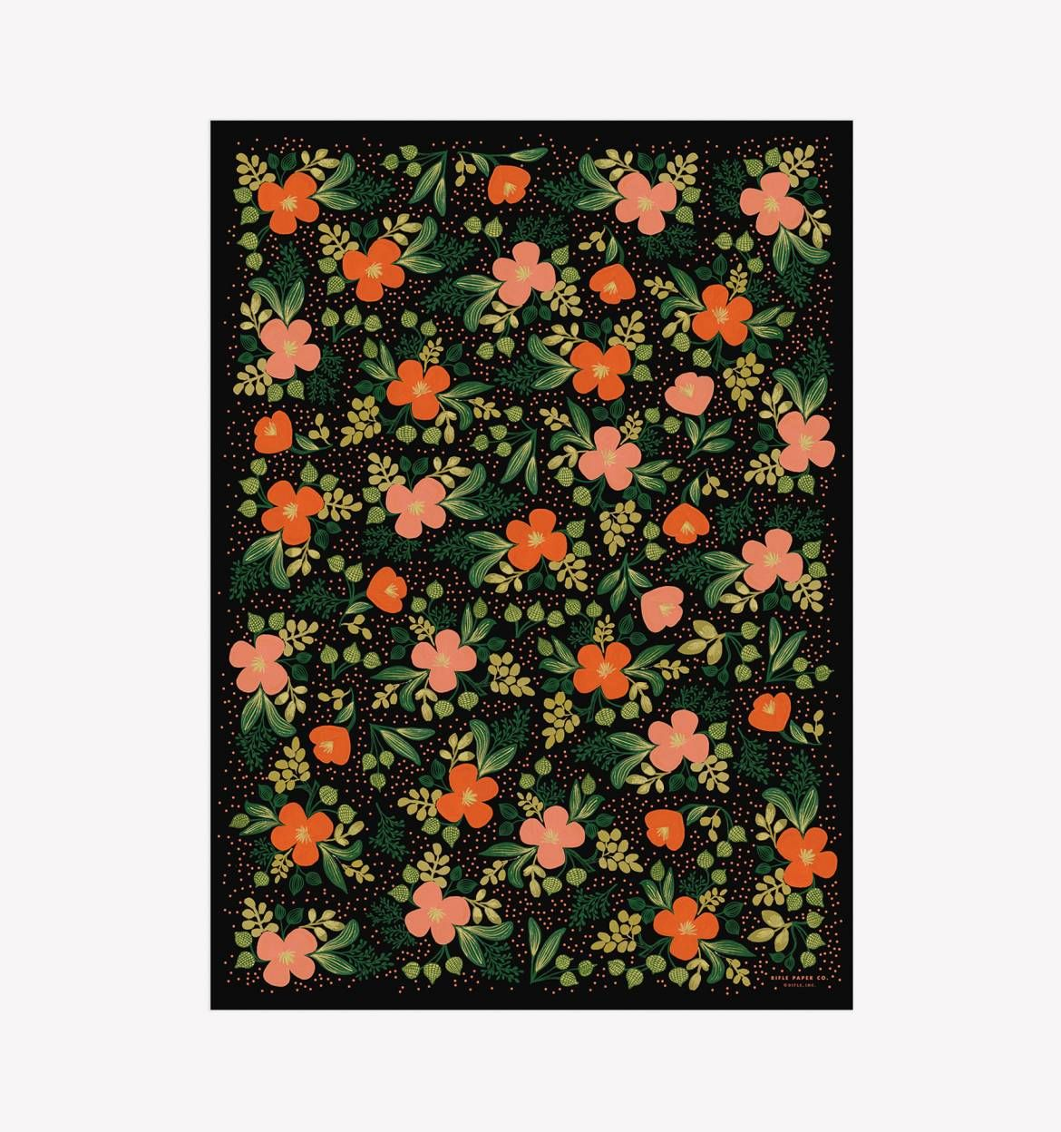 Midnight Floral Wrapping Sheets Crafty Patterns And Creativity