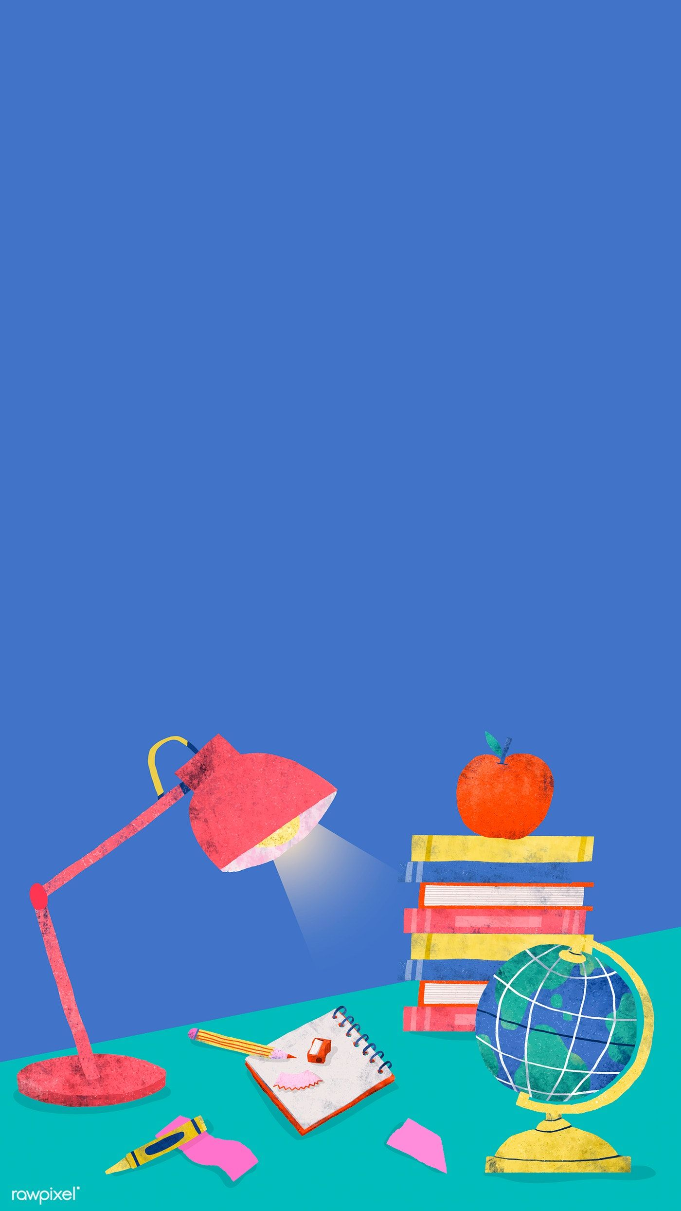 Download Premium Vector Of Blue Back To School Study Table Mobile Phone Back To School Wallpaper Wallpaper English Wallpaper
