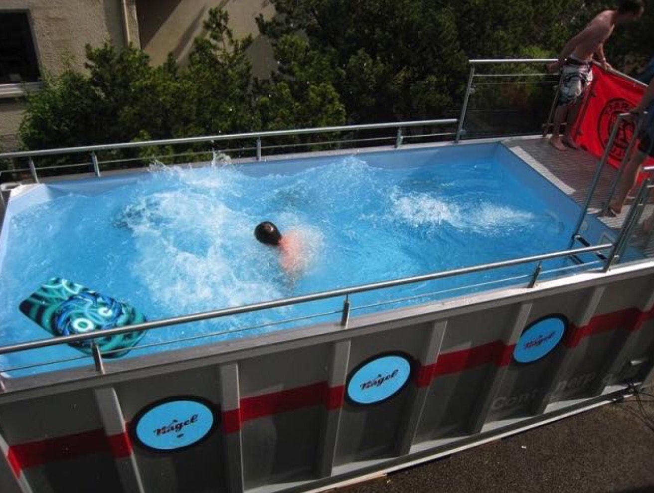 A Shipping Container Pool If I Ever Design A Home Pinterest Container Pool