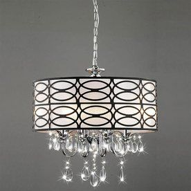 Warehouse of tiffany roxanne 17 in w brownchrome crystal accent warehouse of tiffany roxanne 17 in w brownchrome crystal accent pendant light with fabric shade love this for the sunroom aloadofball Images