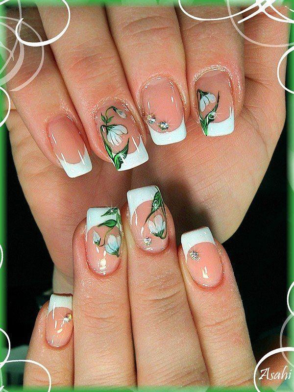 подснежники на ногтях фото макияже