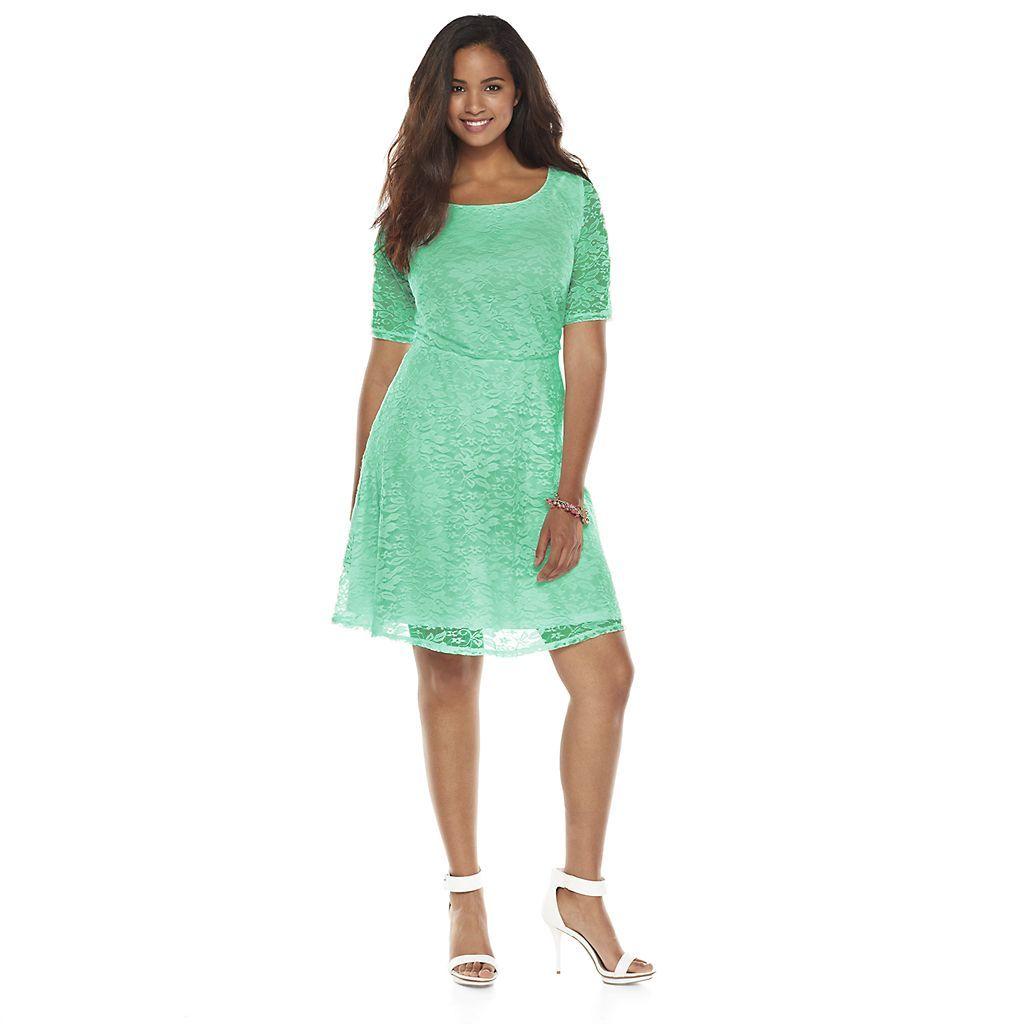 Juniors\' Plus Size Wrapper Lace A-Line Dress | Bridal Party Dresses ...
