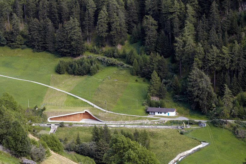 hydroelectric power plant punibach | monovolume architecture | planeiler alm, italy
