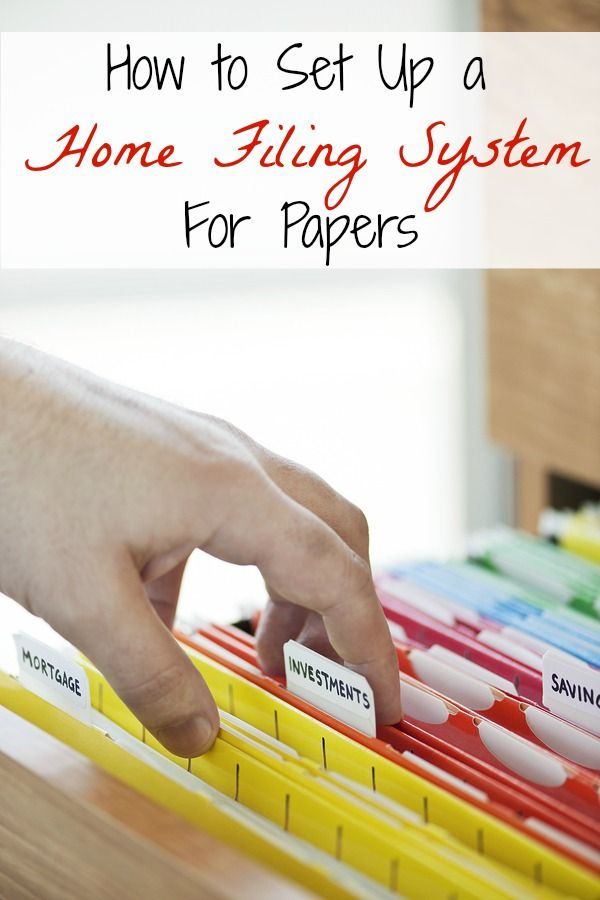 How to set up a home filing system for papers | Organisations ...