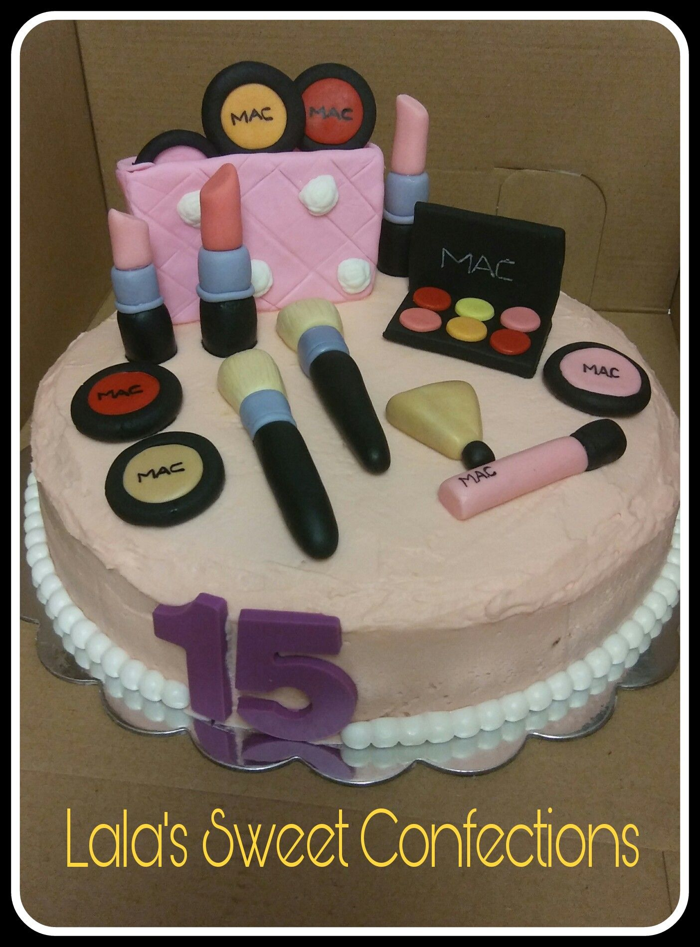 MAC makeup inspired birthday cake Confections, Cake, Sweet