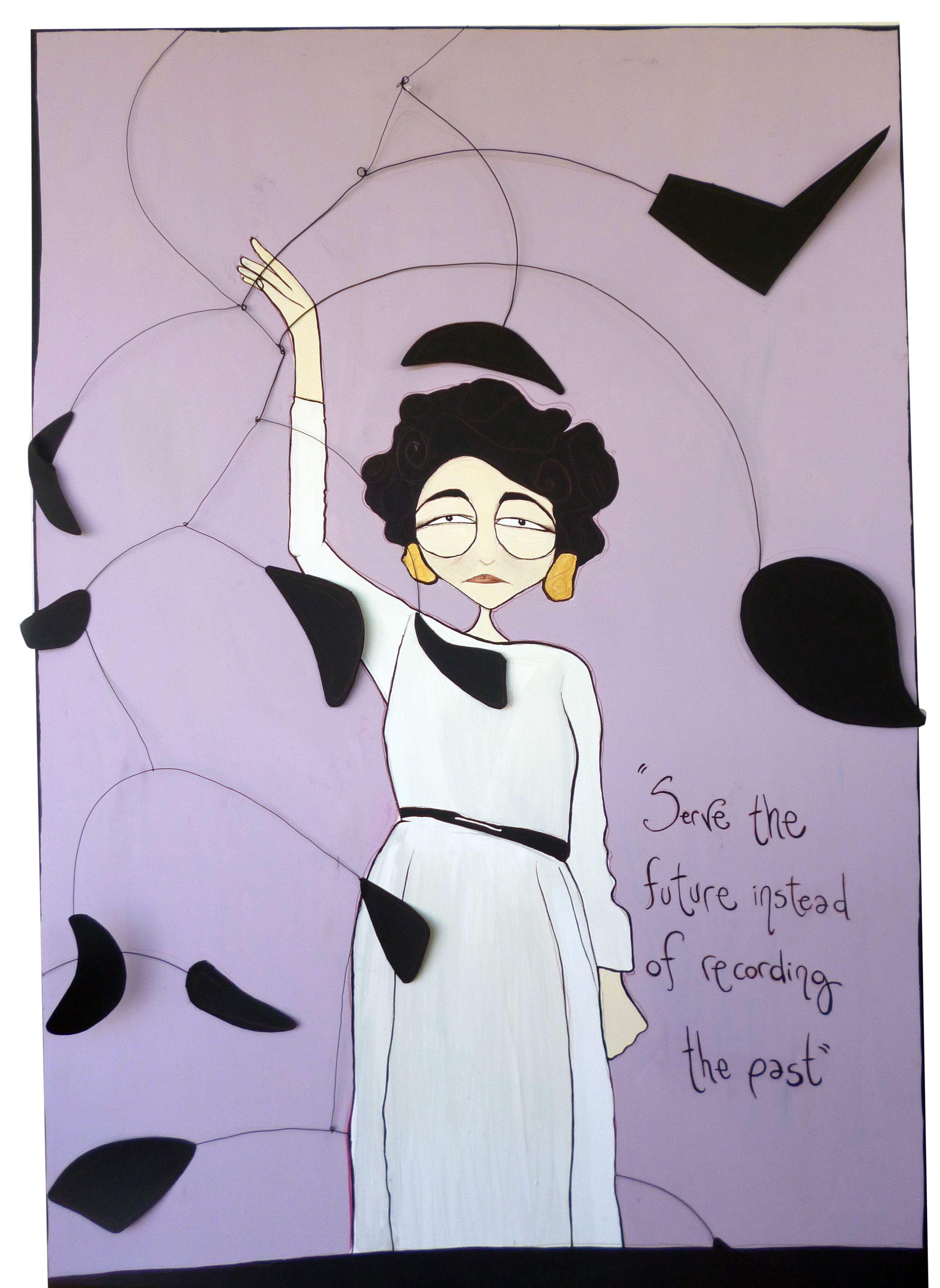 """Peggy Guggenheim  102x152 cm - tecnica mista su tela    """"Cerca di proteggere l'arte del tuo tempo."""""""