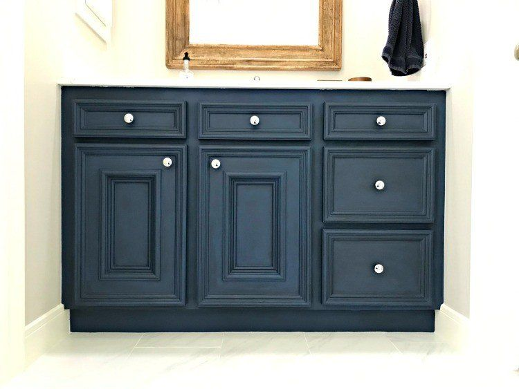 Diy chalk paint bathroom vanity makeover in 2020 with