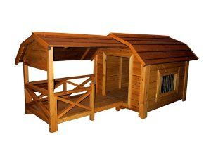 Merry Pet The Barn Wood Pet House Large Dog House With Porch