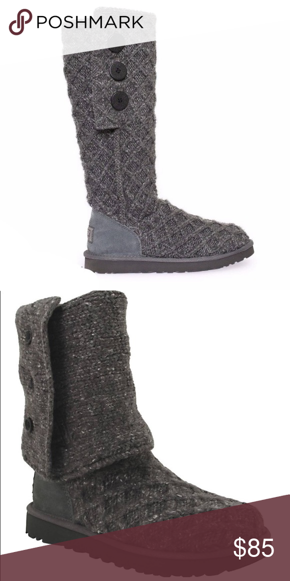 0d716f5bf23 Ugg lattice cardy boots Ugg lattice cardy boots. Charcoal gray with ...