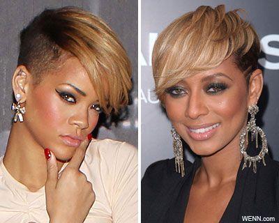 Hairstyle Inspired By Rihanna And Keri Hilson Facial Lady Short Hair Styles Hair Styles Rhianna Hairstyles