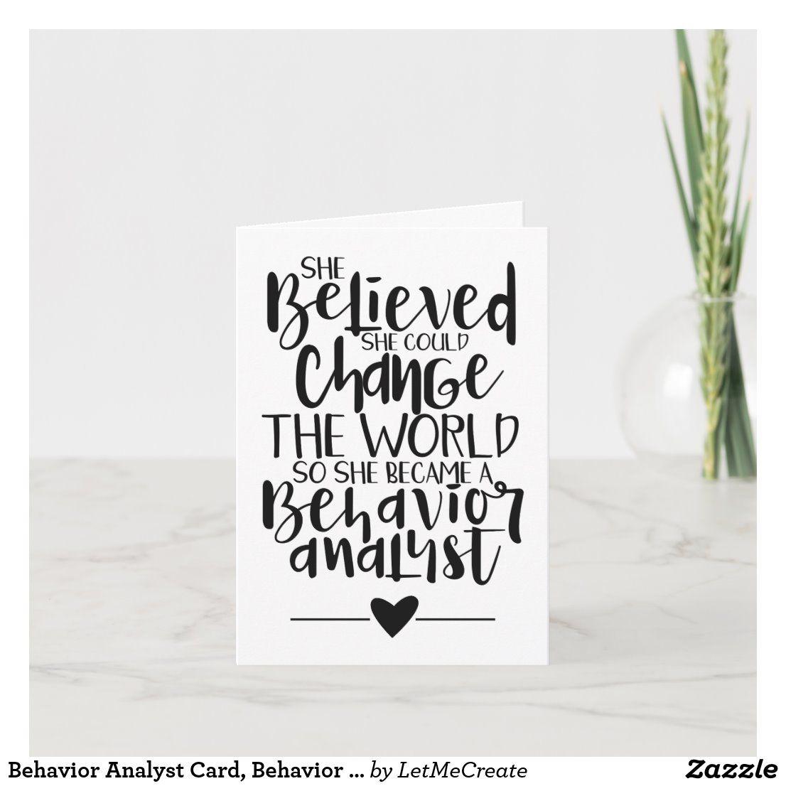 Behavior analyst card behavior analyst card