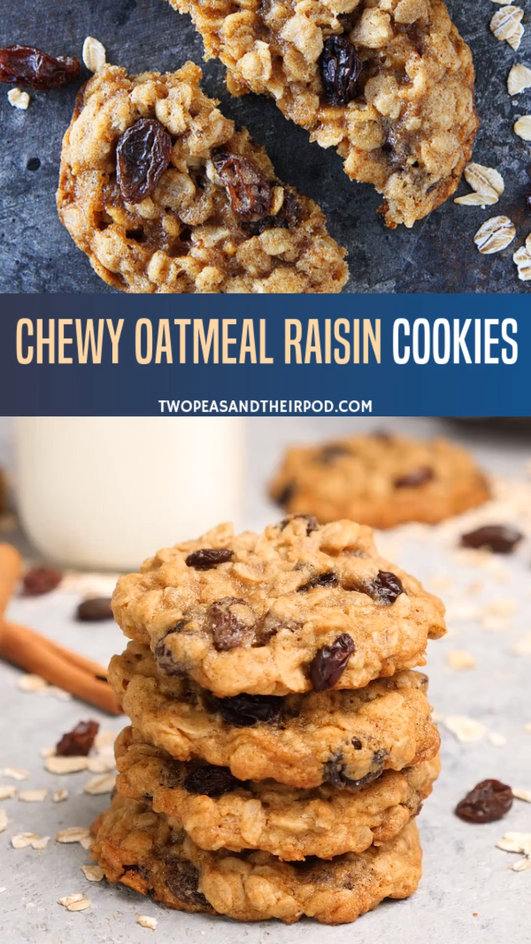 Photo of Chewy Oatmeal Raisin Cookies