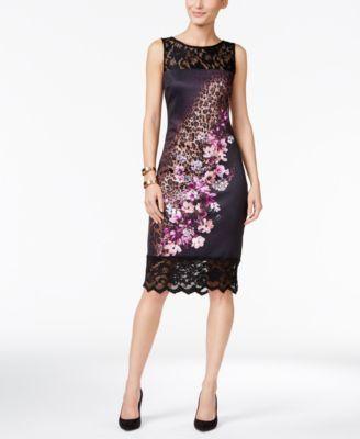 863f827184d Thalia Sodi Mixed-Print Sheath Dress