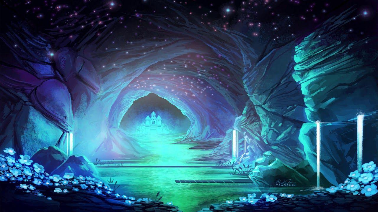 Waterfall Undertale Lo Fi Hip Hop Fantasy Landscape Undertale Background Anime Scenery