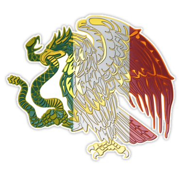 Mexican Flag Eagle Sticker By Rebeldeshirts Mexican Flag Eagle Mexican Flags Mexican Eagle