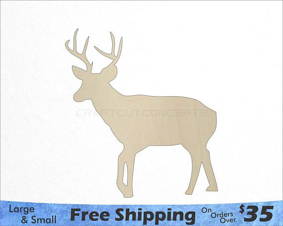 Deer With Antlers Shape Woodland Wildlife Large Small Pick