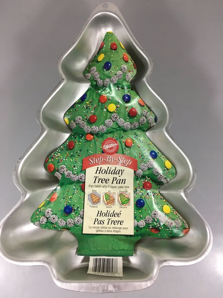 Details About Wilton Holiday Christmas Tree Aluminum Cake Pan 2105