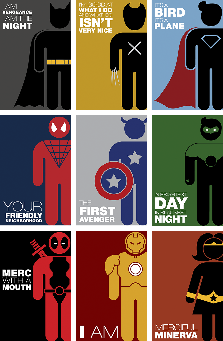 Superhero symbols final posters with applied icons - Poster super heros ...