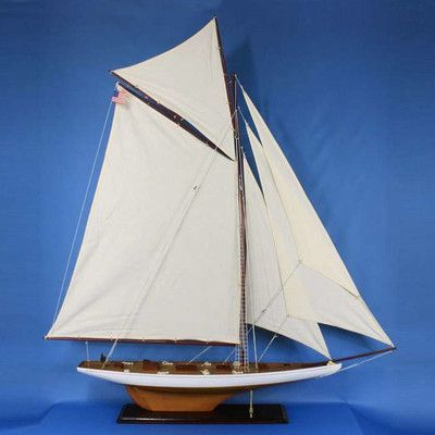 Handcrafted Nautical Decor Model Yacht In 2020 Sailboat Decor