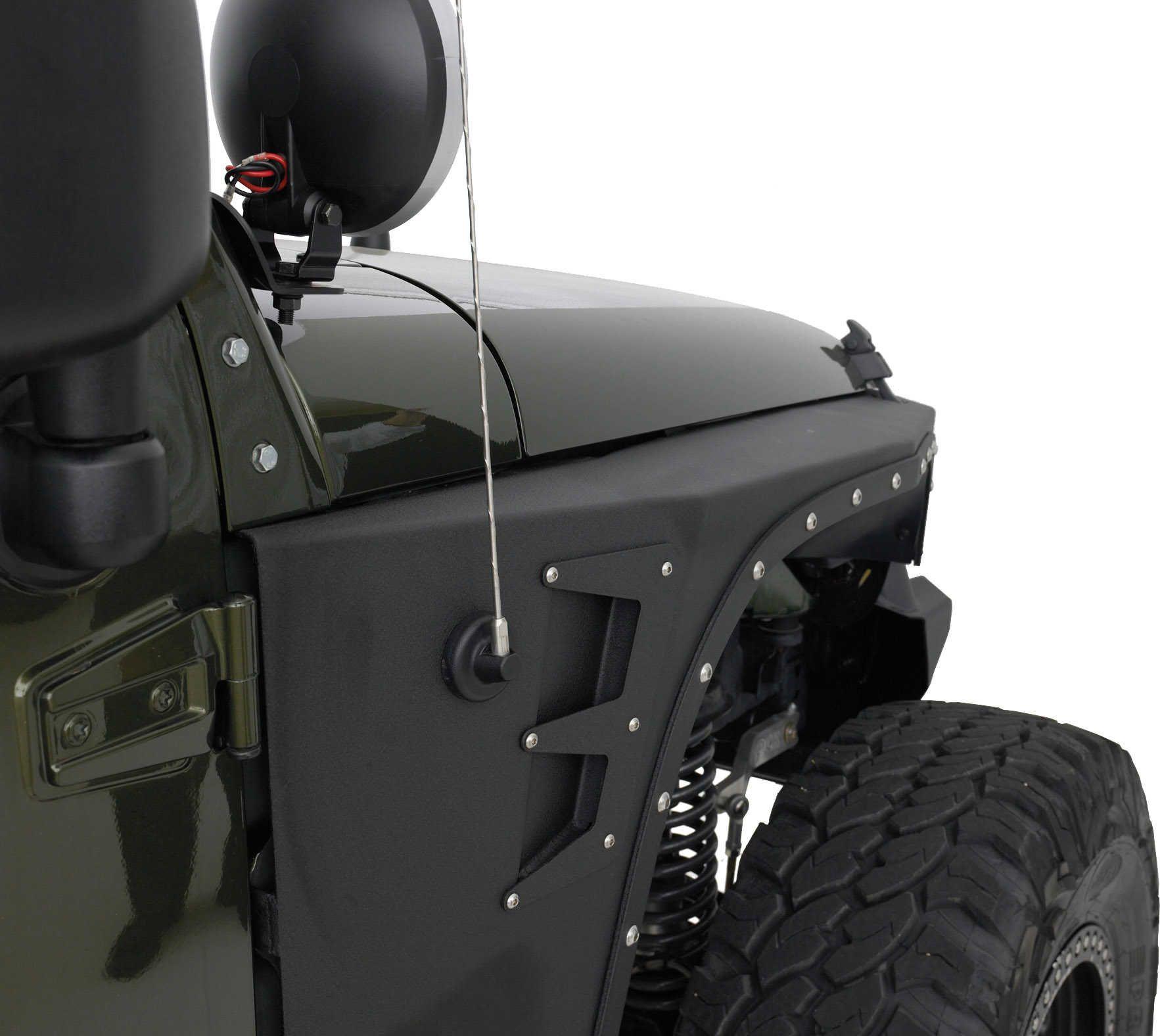 Smittybilt 76880 XRC Armor Front Fenders for 07-17 Jeep® Wrangler &  Wrangler Unlimited JK   Quadratec